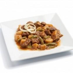 Bœuf pommes de terre et haricots verts